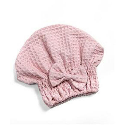 Picture of 1 Piece Hair-Drying Cap Quick Dry Bow Bath Linen - One Size