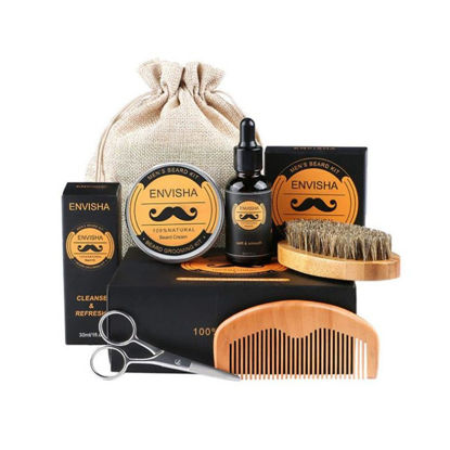 Picture of 6 Pieces Men's Beard Care Sets Professional Mustache Care Kits