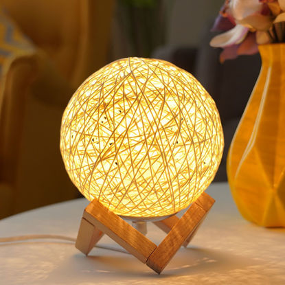 Picture of 1 Piece Night Light Creative Sweet Ball Shaped Bedroom Table Lamp - One Size