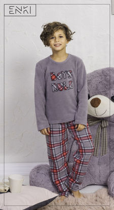 Picture of ENKI BOYS POLAR GRAY PAJAMA SET