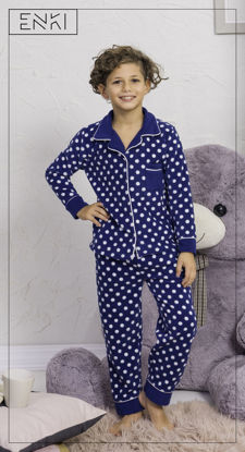 Picture of ENKI BOYS POLAR DRESS BLUES  PAJAMA SET