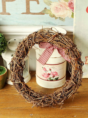 Picture of Handmade Natural Rattan Wall Decoration Round Pastoral Retro Art
