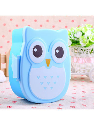 Picture of 1Pc Lunch Box Cute Owl Shaped Mini Portable Travel Storage Box