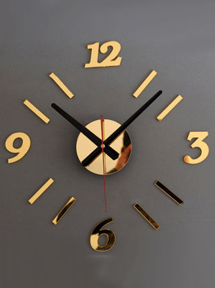 Picture of Wall Clock Modern Brief Style DIY Numbers Acrylic Clock Wall Decor