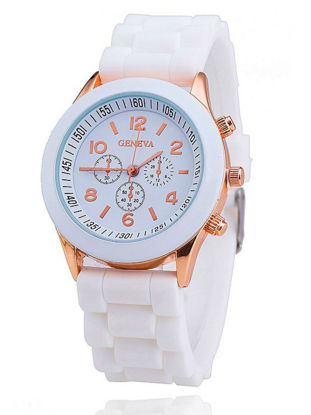 Picture of Women's Fashion Watch Round Simple Design Dial Silicone Watch Accessory - One Size