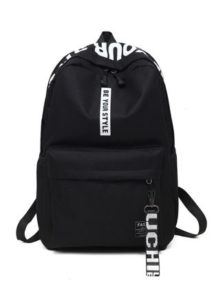 Picture of Men's Backpack Simple Preppy Style Fashion School Bag - One Size