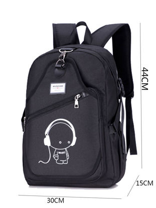 Picture of Men's Backpack Print Cartoon Pattern Waterproof Multi-function Backpack - One Size
