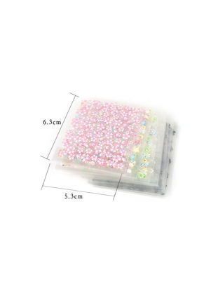 Picture of pinpai 50 Sheets Nail Art Stickers Stylish 3D Flower Design Sweet Adhesive Decals