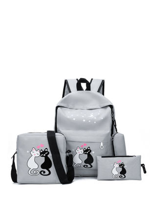 Picture of 4Pcs Kid's Backpack Set All Matched Preppy Fashion Exquisite Boy's School Bags - One Size