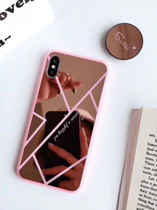 Picture of iPhone 6S Plus/6 Plus Phone Case With Air Bag Holder Stylish Mirror Surface Cover - IPHONE 6Plus/6S Plus