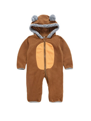 Picture of Baby Newborn Baby Romper Winter Bear Shape Hooded Girl Boy One Pieces Rompers Cute Kids Infant Jumpsuit C - 12M