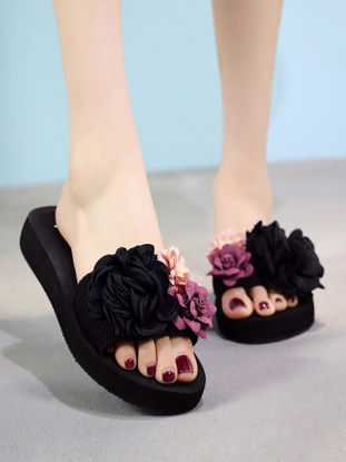 Picture of Women's Slippers Open Toe Platform Fashion Slippers - 38