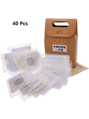 Picture of 40Pcs Traditional Medicine Slimming Navel Patch Weight Loss Adhesive Pads for Men and Women