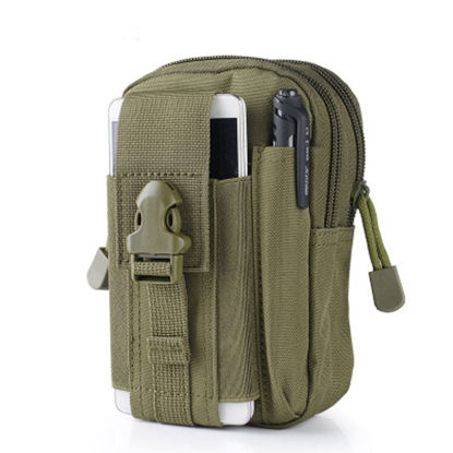 Picture of Men's Outdoor Waist Bag Multi Pockets Design Mini Size Sports Bag