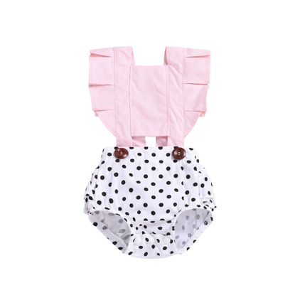 Picture of Baby Baby Girl's Romper Fashion Sweet Dots Pattern Soft Bodysuit - 80cm