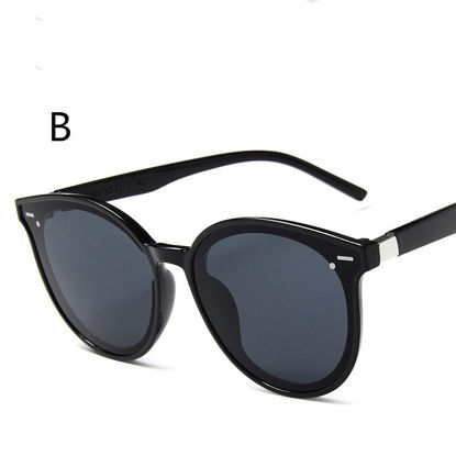 Picture of Men's Sunglasses UV Protection Big Round Frame Chic Eyewear - One Size