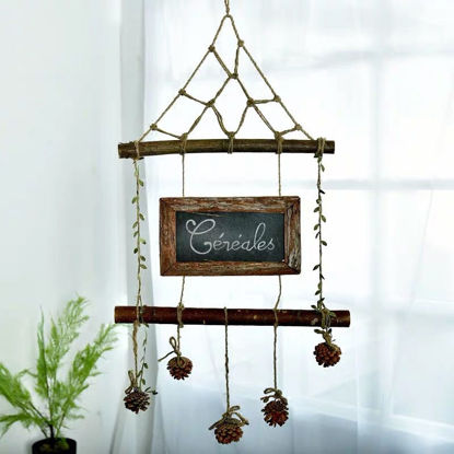 Picture of 1Pc Wall Hanging Ornament Nordic Style Hemp Rope Handmade Craft - One Size