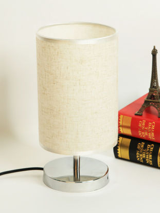 Picture of Table Lamp Classical Cylinder Shaped Decorative Night Light - M