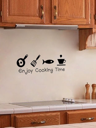 Picture of Decorative Wall Sticker Creative Letter Kitchen Tools Pattern Simple Home Decor