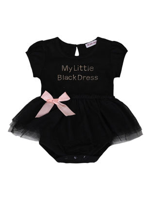 Picture of Baby Baby Girl's Romper Mesh Patchwork Letter Pattern Cute Baby Clothes - 70cm