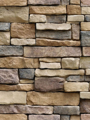 Picture of Wall Paper Brick Stone Rustic Effect Self-adhesive Wall Sticker - One Size