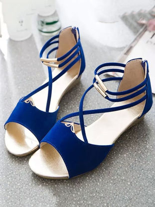 Picture of Women's Wedge Sandals Open Toe Stylish Casual All Match Wedge Sandals - 39
