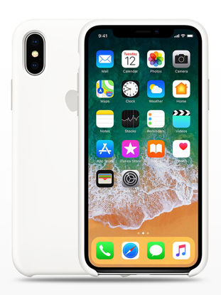 Picture of iPhone 8 Phone Cover Solid Color Silicone Gel Phone Case - Iphone 8