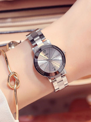 Picture of 1 Pc Women's Wrist Watch Round Dial Pointer Type Fashion Watch - One Size