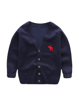 Picture of Toddler Boys Boy's Cardigan Long Sleeve Breathable Fashion Comfy Knitwear - Reference Height:90cm