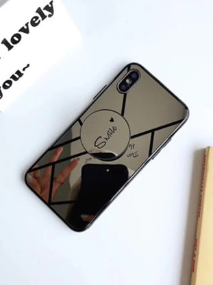 Picture of iPhone 6/6S Phone Case With Air Bag Holder Stylish Mirror Surface Cover - IPHONE 6/6S