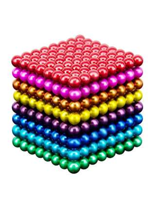 Picture of 216Pcs 5MM Buck Decompression Magnetic Ball Colorful Magnetic Cube Puzzle Decompression Toy
