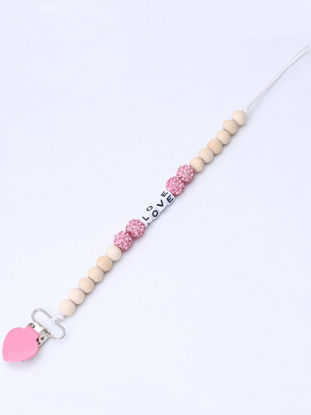 Picture of Baby Heart Shaped Pacifier Clip Chain - One Size