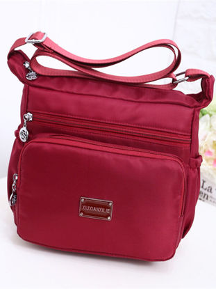 Picture of Women's Crossbody Bag Large Capacity Waterproof Casual Zipper Bag - One Size