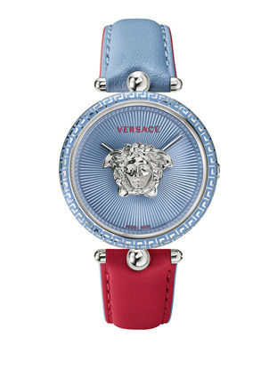 Picture of Versace Women's Palazzo Empire Quartz Watch with Bi-color Leather Strap VCO070017 - One Size