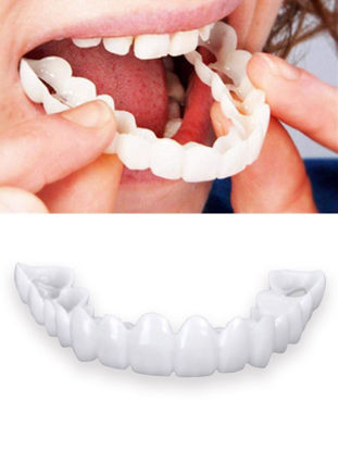 Picture of Teeth Socket for Men and Women Snap On Smile Teeth One Size Fits Snapon Snap-on Smile Safety Non-toxic Dental Crown