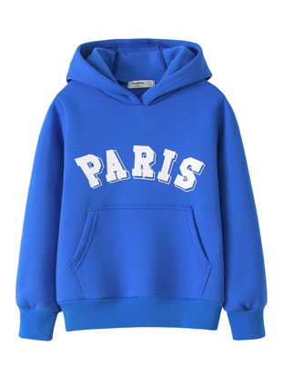 Picture of Teens Boy's Hoodie Letter Pattern Long Sleeve Top Fashion Top - Reference Height:120cm