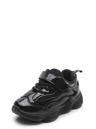 Picture of Kids' Fashion Sneakers Solid Color Breathable Lacing Design Shoes - 30