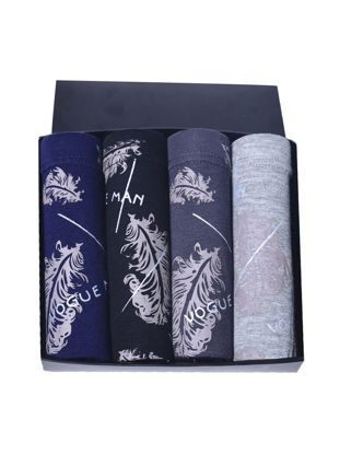 Picture of Men's Underwear Gift Box Fashion Print Cozy Skinny Breathable Boxers - Size: L