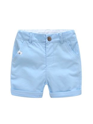 Picture of Toddlers Boy's Shorts Simple Solid Color Casual Bottoms - Size: Reference Height:120cm