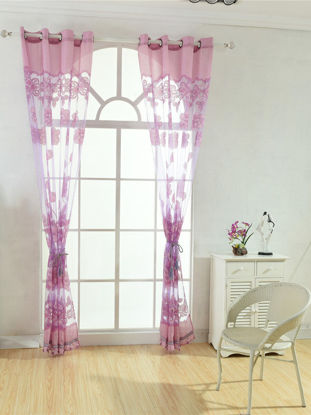 Picture of 1 Piece Home Curtain Simple Style Floral Pattern Home Hanging Curtain - Size: One Size
