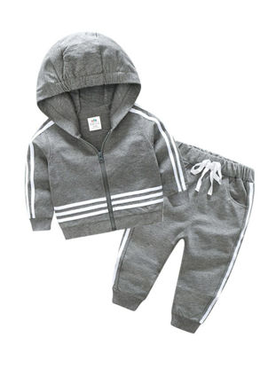 Picture of Toddler Boys Boy's 2 Pcs Pants Suit Comfy Striped Long Sleeve Chic Set - Size: Reference Height:140cm