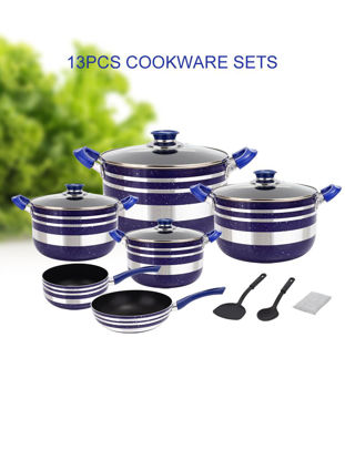 Picture of 13 Pcs Non-stick Cookware High Quality Sauce Pot Set