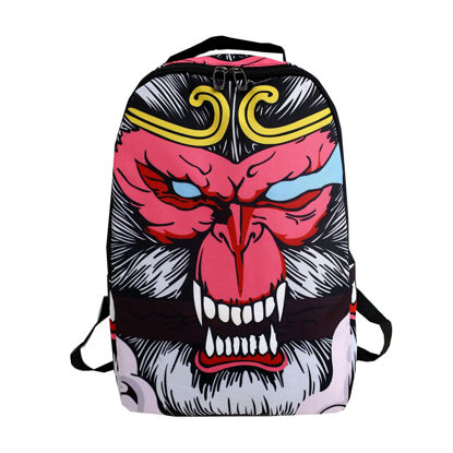 Picture of Men's Backpack Cartoon Print Large Capacity Casual Bag - Size: One Size
