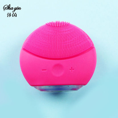 Picture of Electric Silicone Facial Cleaner Ultrasonic Vibration Massager Device
