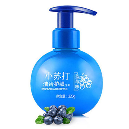 Picture of 220g Passion Fruit Blueberry Toothpaste Stain Removal Whitening Baking Soda Toothpaste Fight Bleeding Gums Toothpaste