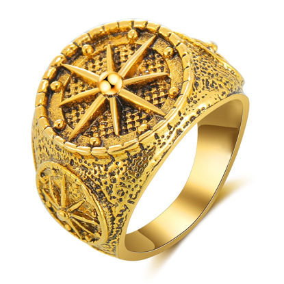 Picture of SAN VITALE Men's Ring Carving Vintage Ethnic Style Accessory - Size: 9