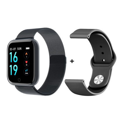 Picture of Smart Watch Round Screen Heart Rate Blood Pressure Monitoring Sport Watch - Size: Free size