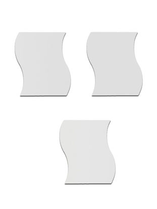 Picture of 3Pcs Wall Stickers Set Creative Large Wave Design Wall Decors