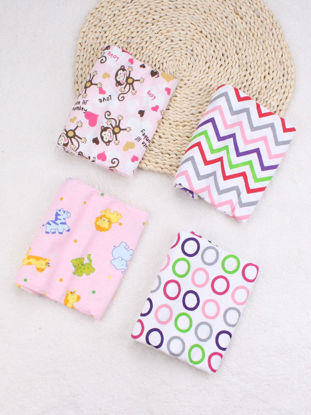 Picture of 4Pcs Newborn Baby's Monolayer Quilt Cotton Sanding Multifunction Baby Swaddling Blanket - Size: One Size