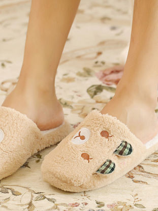 Picture of Home Slippers Voguish Popular Lovely Closed Toe Supple Floor Slippers - Size: 44-45